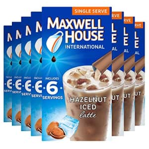 Maxwell House International Cafe Iced Hazelnut Latte Instant Coffee (3.42 oz Boxes, Pack of 8) for $14
