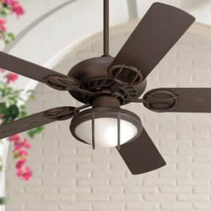 """Casa Vieja 52"""" Orb LED Pull Chain Ceiling Fan for $160"""