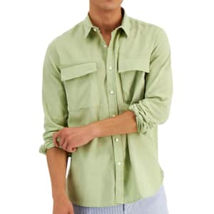 Sun + Stone Men's August Regular-Fit Linen Shirt for $13