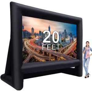 Laika 20-Foot Inflatable Outdoor Movie Projector Screen for $180