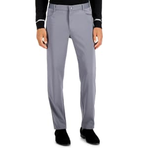 Alfani Men's Four Pocket Travel Pants for $19