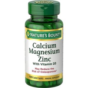 Nature's Bounty Calcium/Magnesiuim/Zinc 100-Count Bottle for $5