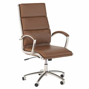 Bush Furniture Bush Business Furniture 400 Series High Back Leather Executive Office Chair in Saddle Tan for $387