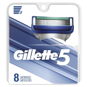 Gillette 5 Men's Razor Blade Refill 8-Pack for $13 via Sub & Save