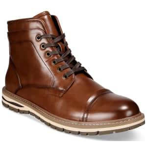 Alfani Men's Travis Cap-Toe Boots for $24