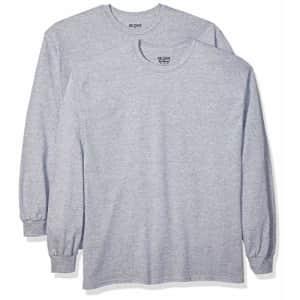 Gildan Men's DryBlend Adult Long Sleeve T-Shirt, 2-Pack, Sport Grey, 3X-Large for $26
