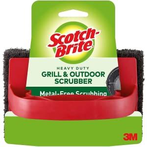 Scotch-Brite Heavy Duty Outdoor Scrubber for $4