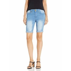 V.I.P. JEANS Women's Super Jeans Shorts Acid Washed, Cute Blue, 15 for $20