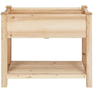 """Yaheetech 34"""" x 30"""" Wooden Planting Bed for $74"""