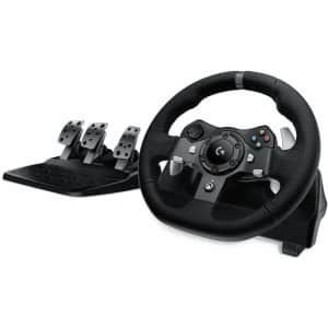 Logitech G920 Dual-Motor Feedback Driving Force Racing Wheel with Responsive Pedals & Shifter for $231