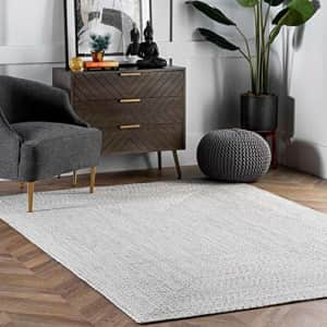 nuLOOM Lefebvre Braided Indoor/Outdoor Accent Rug, 2' x 3', Ivory for $92