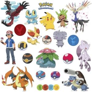 RoomMates Pokemon XY Peel And Stick Wall Decals for $10