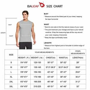 BALEAF Men's Sleeveless Dri Fit Shirts Swim Activewear Basketball Tank Top Blue Size L for $17