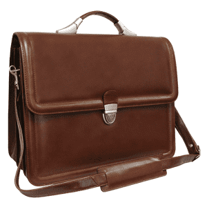 Amerileather Savvy Leather Executive Briefcase for $50