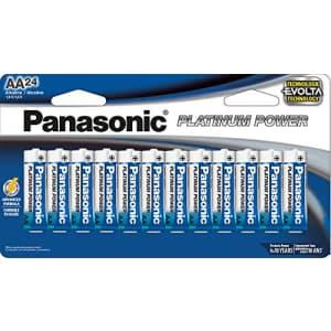 Panasonic Energy Corporation LR6XE/24B Platinum Power AA Alkaline Batteries, Pack of 24 for $67