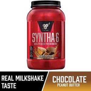 BSN SYNTHA-6 Protein Powder, Whey Protein, Micellar Casein, Milk Protein Isolate, Flavor: Chocolate for $30