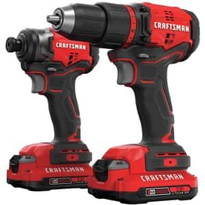 Craftsman V20 2-Tool Cordless Drill Combo Kit for $171