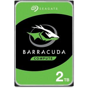 "Seagate Barracuda 2TB SATA 6Gbps 3.5"" Internal Hard Drive for $50"