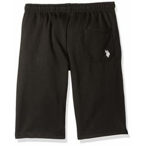 U.S. Polo Assn. Boys' Big French Terry Pull-On Short, Black, 10/12 for $24