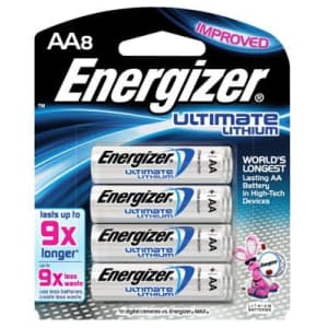 """Eveready Battery L91SBP-8 8-Pack""""AA"""" Photo Lithium Batteries - Quantity 6 for $80"""
