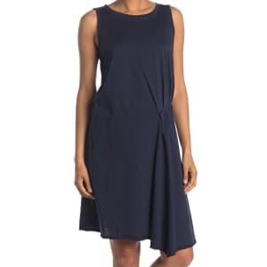 Stitchdrop Women's Pleated Asymmetrical Hem Dress for $9