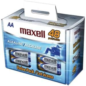 Maxell 723443 - Lr648b 48pk Aa Batteries Box for $23