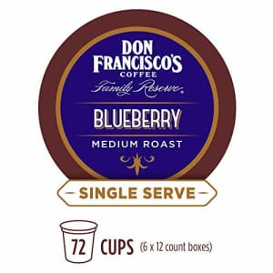Don Francisco's Blueberry Flavored (72 Count) Recyclable Single-Serve Coffee Pods, Compatible with for $38