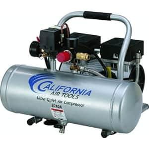 California Air Tools 2010A Ultra Quiet and Oil-Free 1.0 HP 2.0-Gallon Aluminum Tank Air for $199
