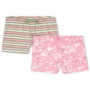 The Children's Place Girls' Basic Shorts, Pack of Two, Misty Glen, XXL(16) for $21