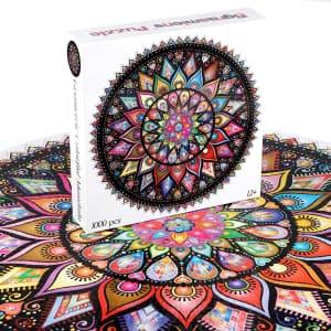 Bgraamiens 1,000-Piece Mandala Jigsaw Puzzle for $10