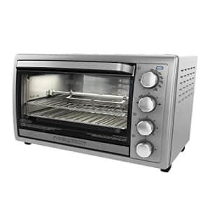 Black + Decker Black+Decker WCR-076 Rotisserie Toaster Oven, 9X13, Stainless Steel for $150