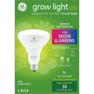 GE 9W Full Spectrum LED BR30 Grow Light Bulb for $9