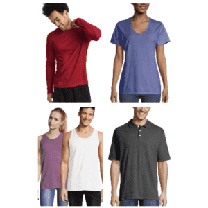 Hanes Tees, Tanks, and Polos: 20% off 3+