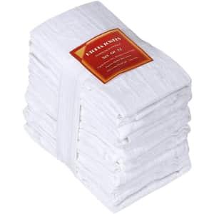 Utopia Kitchen Flour-Sack Towel 12-Pack for $16