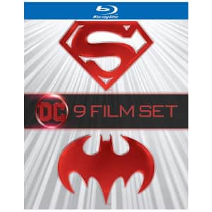 Batman/Superman 9-Film Anthology Blu-ray for $29