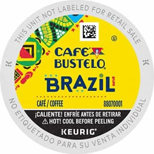 Cafe Bustelo Caf Bustelo Brazil Dark Roast Coffee, 72 Keurig K-Cup Pods for $61