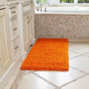 Ottomanson Soft Cozy Color Solid Shag Runner Rug Contemporary Hallway and Kitchen Shag Runner Rug, for $126