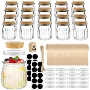 Folinstall 7-oz. Spice Glass Jars 20-Pack for $16