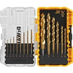 DeWalt 14-Piece Titanium Drill Bit Set for $15