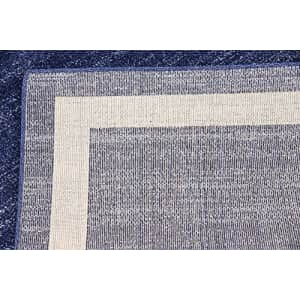 Unique Loom Del Mar Collection Contemporary Transitional Navy Blue Area Rug (3' 3 x 5' 3) for $106