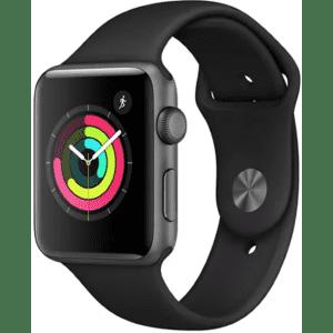 Apple Watch Series 3 GPS 38mm Aluminum Smartwatch for $199