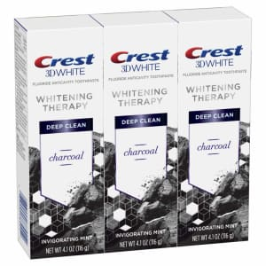 Crest 3D White 4.1-oz. Deep Clean Charcoal Toothpaste 3-Pack for $7.82 via Sub & Save