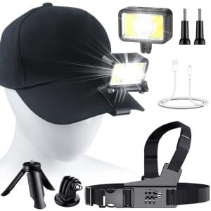 Gebalage LED Clip-On Cap Light 2-Pack for $10