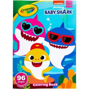 Crayola Baby Shark Coloring Book for $2