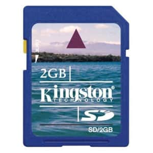 Kingston 2 GB SD Flash Memory Card SD/2GBET for $16
