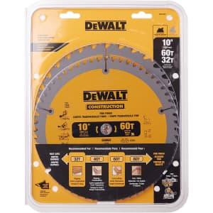 DeWalt Miter / Table Saw Blade Combo Pack for $29 via Sub & Save