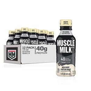 Muscle Milk Pro Series Protein Shake, Intense Vanilla, 32g Protein, 14 Fl Oz, 12 Pack for $59