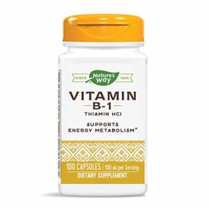 Nature's Way Vitamin B-1, 100 mg per serving, Thiamin HCI, 100 Capsules for $22