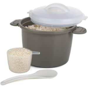 Progressive International 4-Piece Microwave Rice Cooker Set for $6