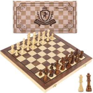 """Hnoerin 15"""" Magnetic Chess Set for $25"""